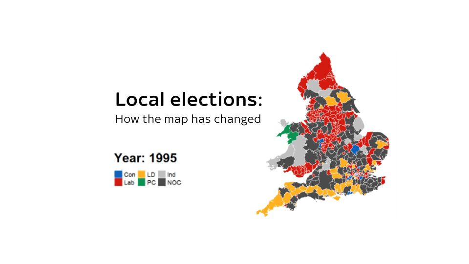 Map Of Uk General Election Results.Local Elections How Your Area Has Voted Over The Last 40 Years